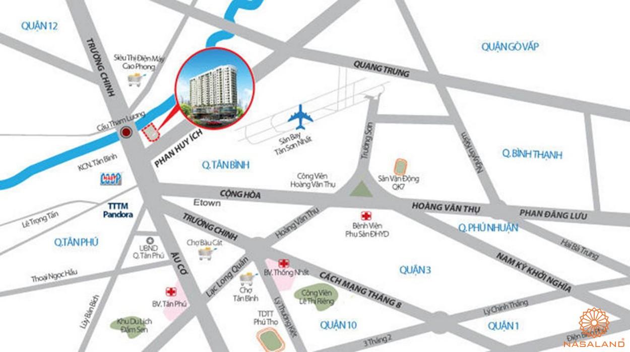 Vị trí dự án căn hộ Fico Star