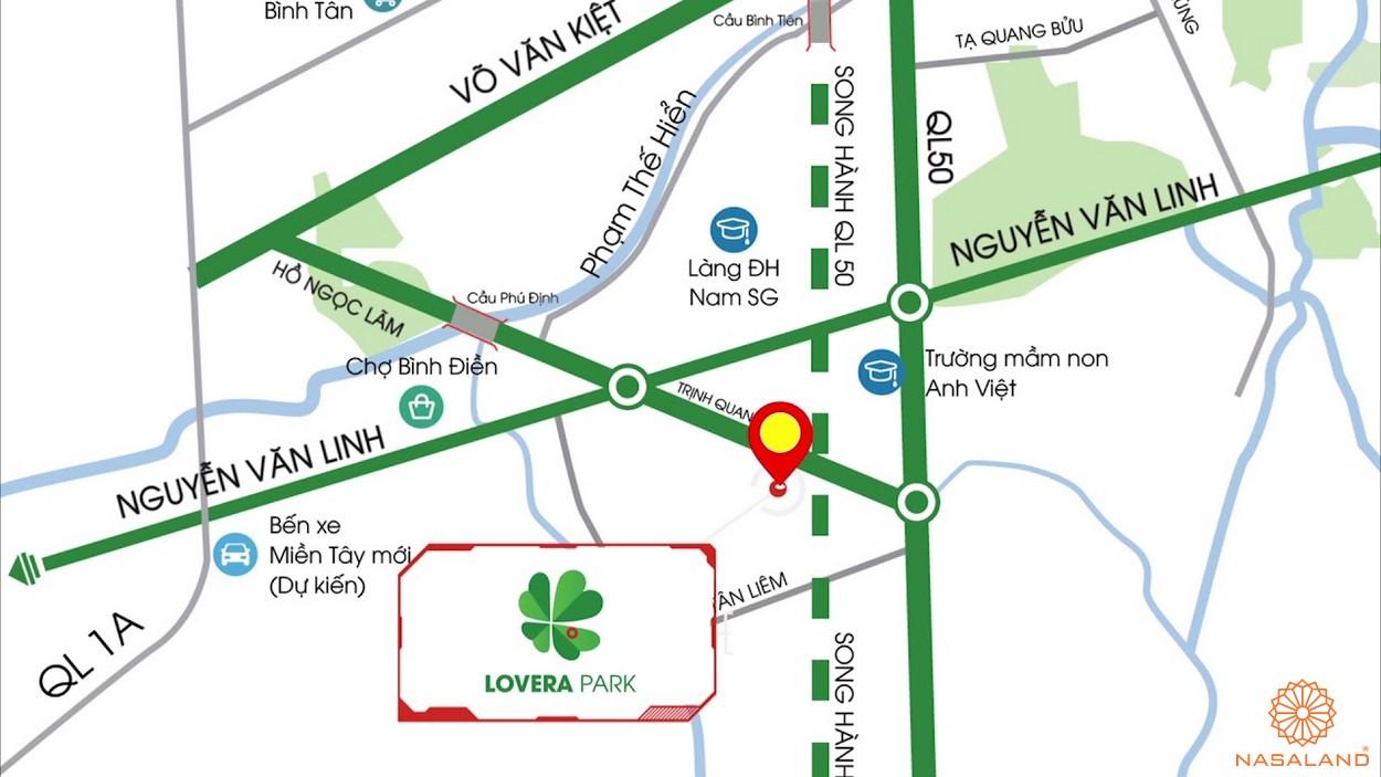 Vị trí dự án căn hộ Lovera Park Bình Chánh