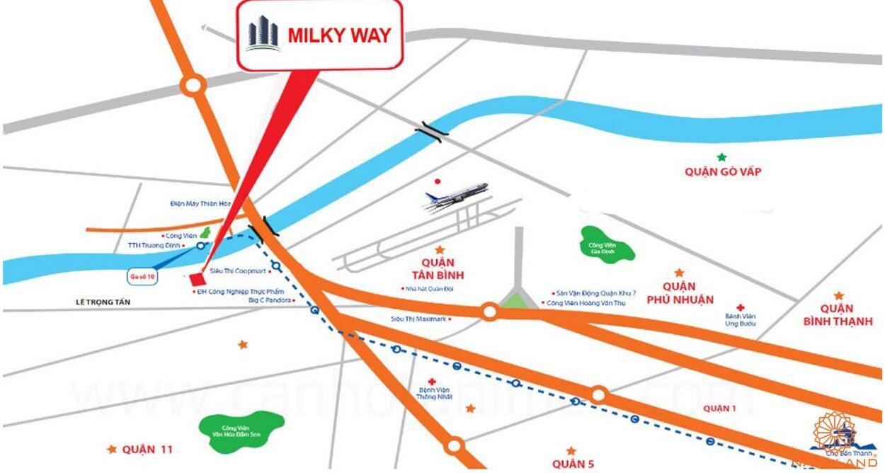 Vị trí dự án căn hộ Milky Way