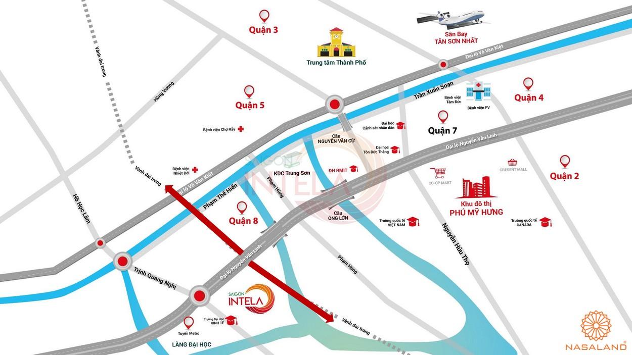 Vị trí dự án căn hộ Saigon Intela