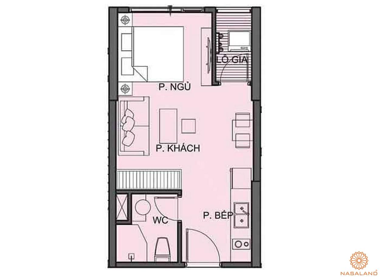 Mặt bằng căn hộ Studio tại The Origami S6.01