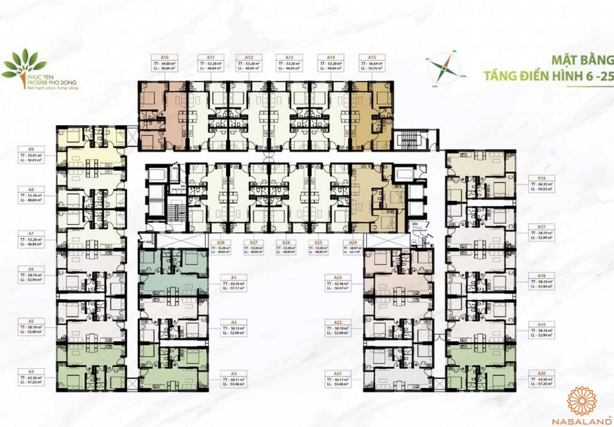 Mặt bằng dự án căn hộ Phúc Yên Prosper Phố Đông Thủ Đức 6-25