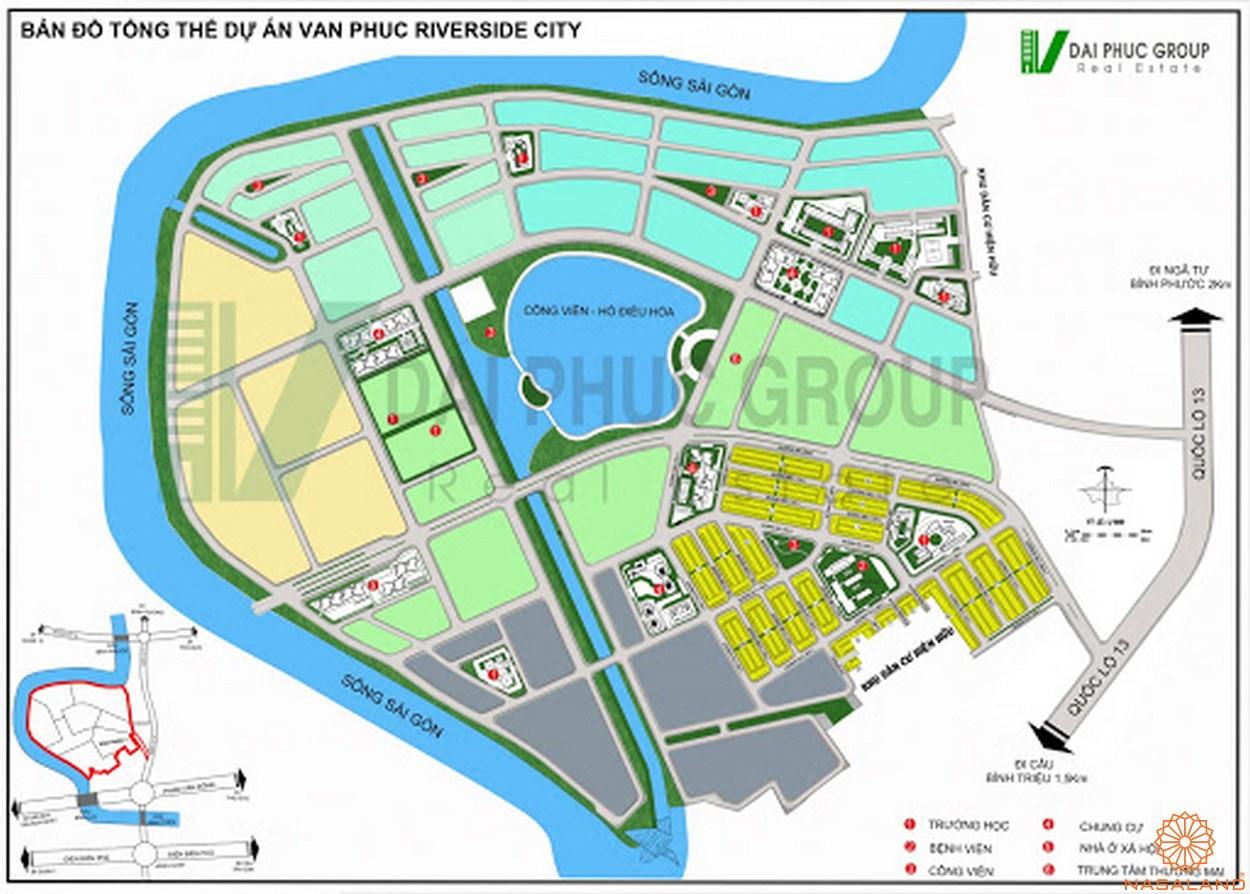 Mặt bằng dự án khu đô thị Vạn Phúc City Thủ Đức - Tổng thể