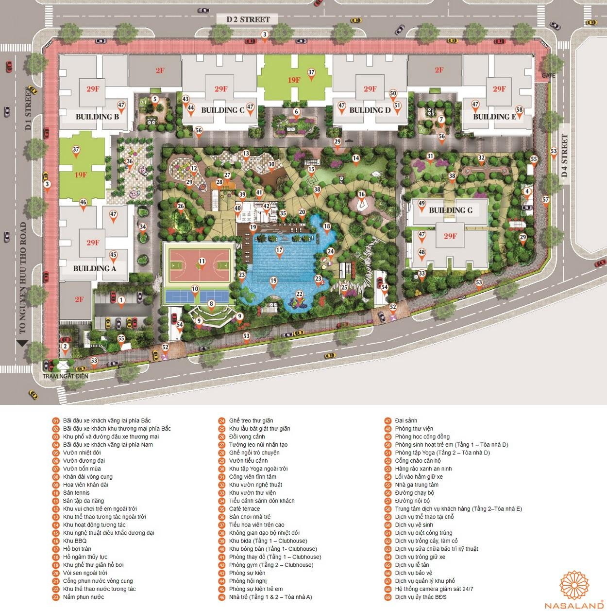 Mặt bằng dự án căn hộ chung cư Saigon South Residence Nhà Bè - tầng tiện ích