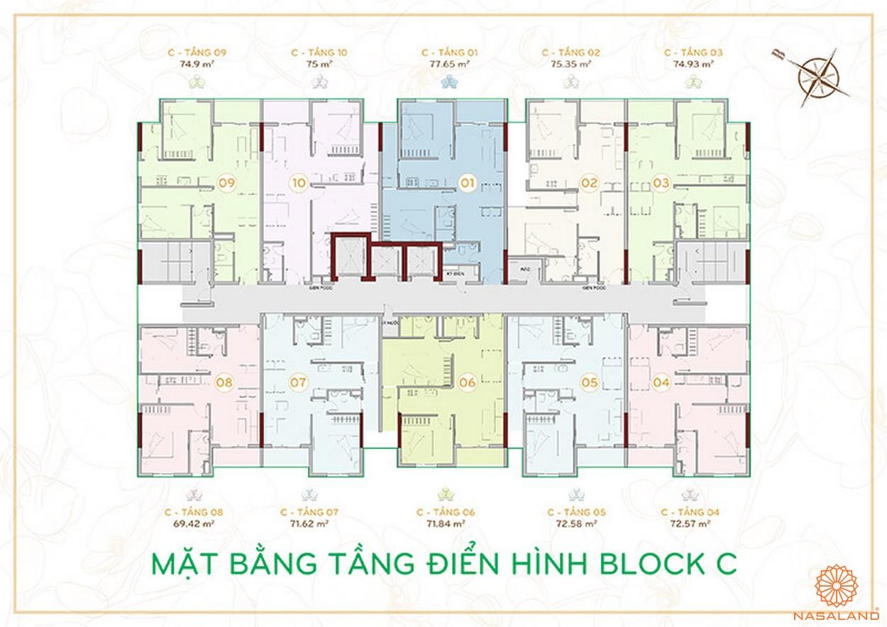 Mặt bằng Block C căn hộ Orchid Park