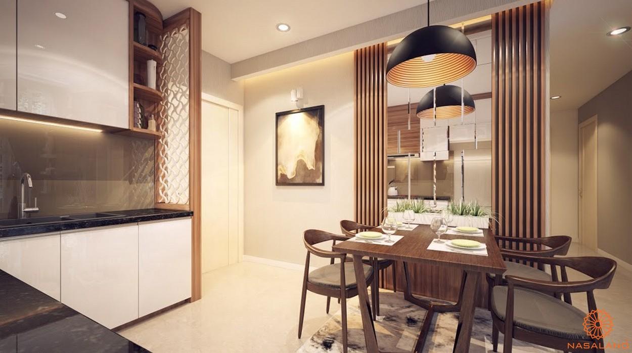 Nhà mẫu dự án chung cư Diamond Lotus Lake View Tân Phú - Phòng bếp