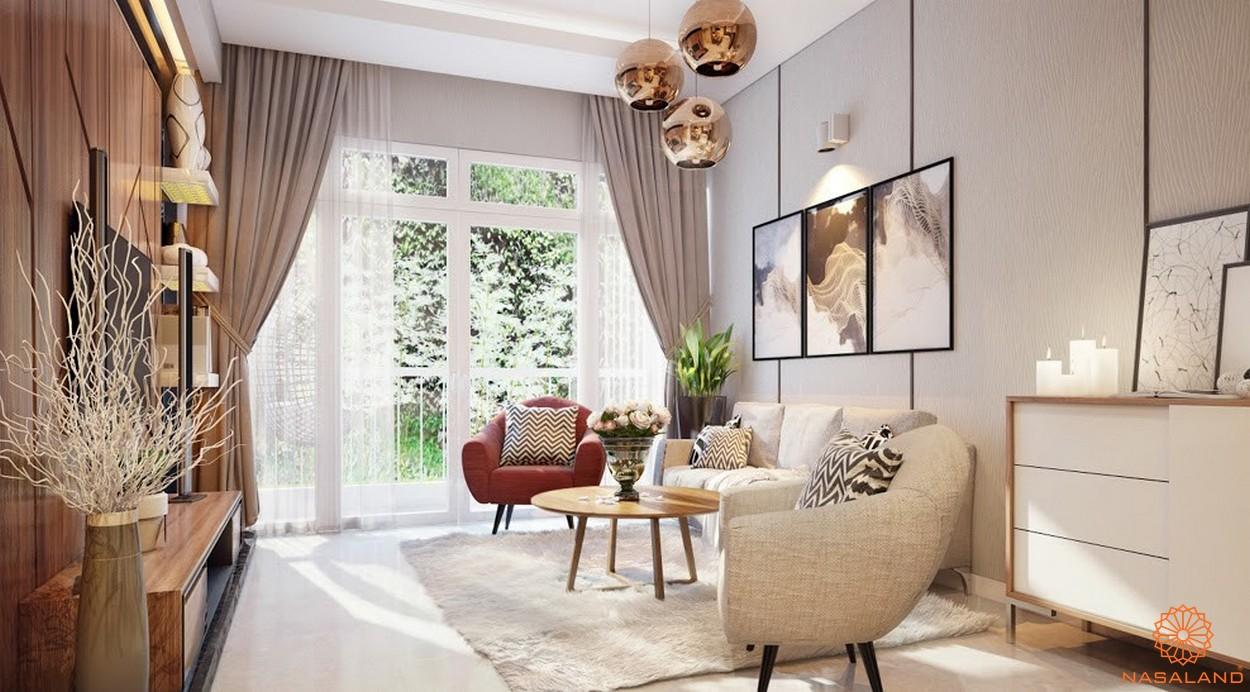 Nhà mẫu dự án chung cư Diamond Lotus Lake View Tân Phú - Phòng khách