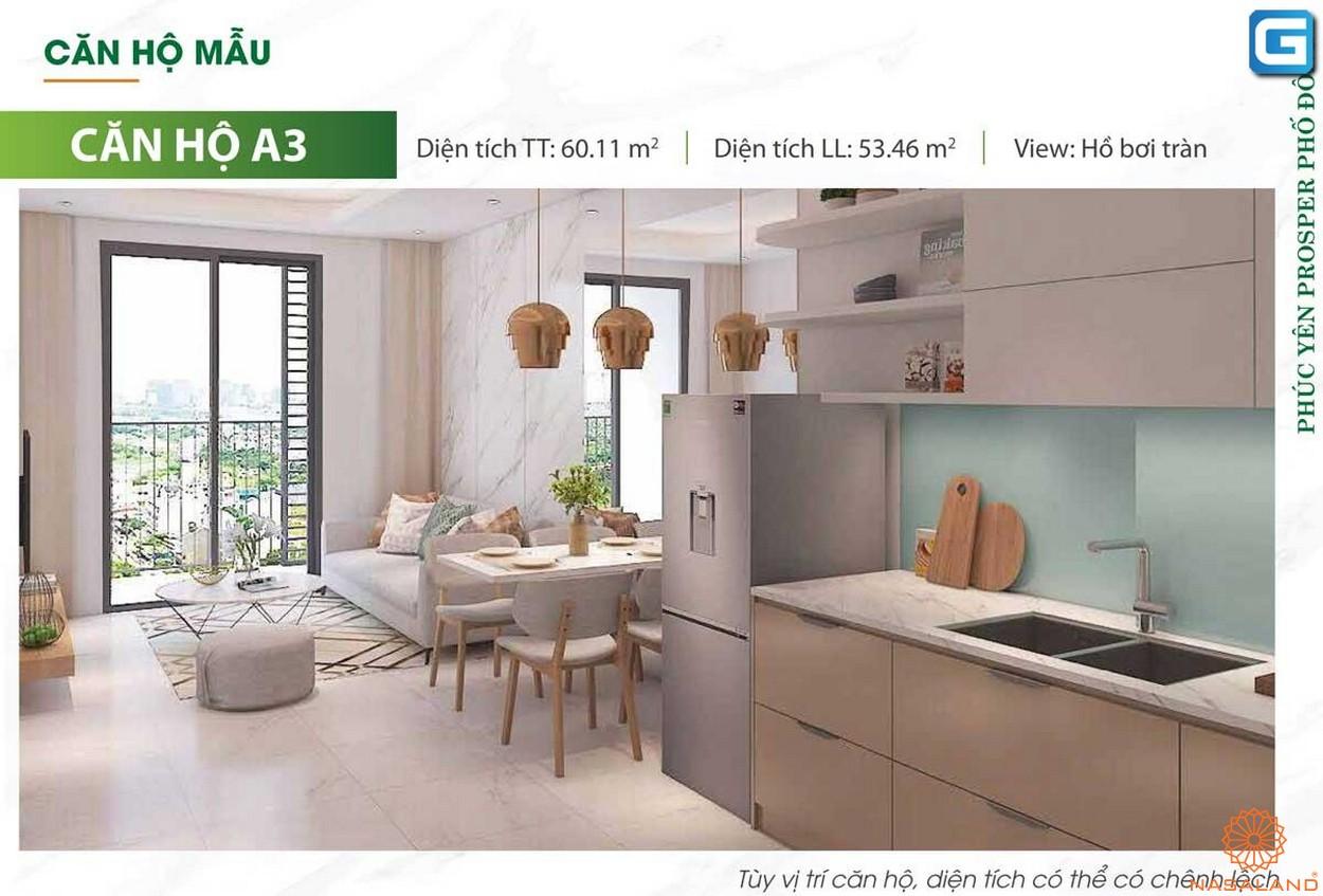 Nhà mẫu dự án căn hộ Phúc Yên Prosper Phố Đông Thủ Đức A3