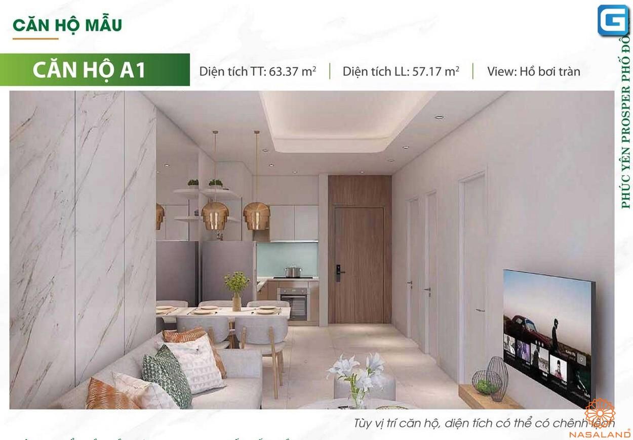 Nhà mẫu dự án căn hộ Phúc Yên Prosper Phố Đông Thủ Đức A1