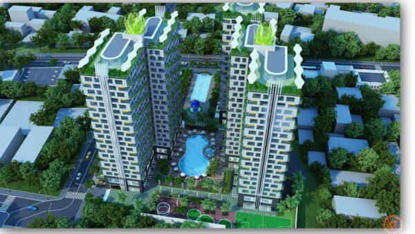 Phối cảnh dự án chung cư Diamond Lotus Lake View Tân Phú