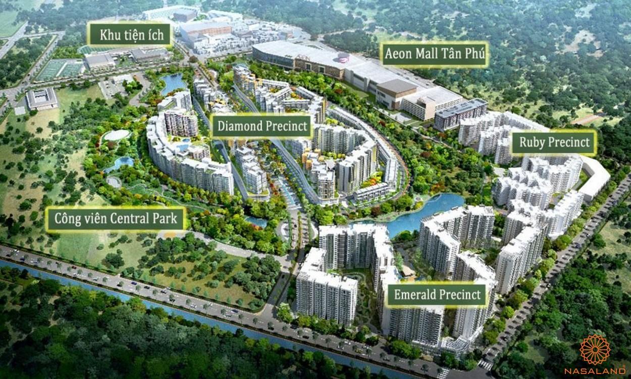 Mặt bằng dự án căn hộ Celadon CIty Tân Phú