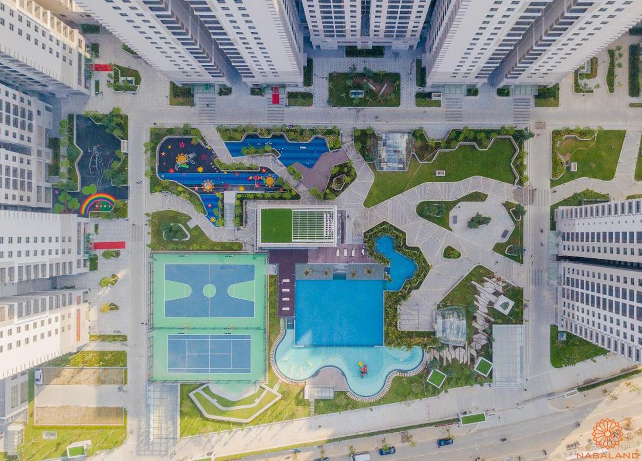 Phối cảnh dự án căn hộ chung cư Saigon South Residence Nhà Bè nội khu