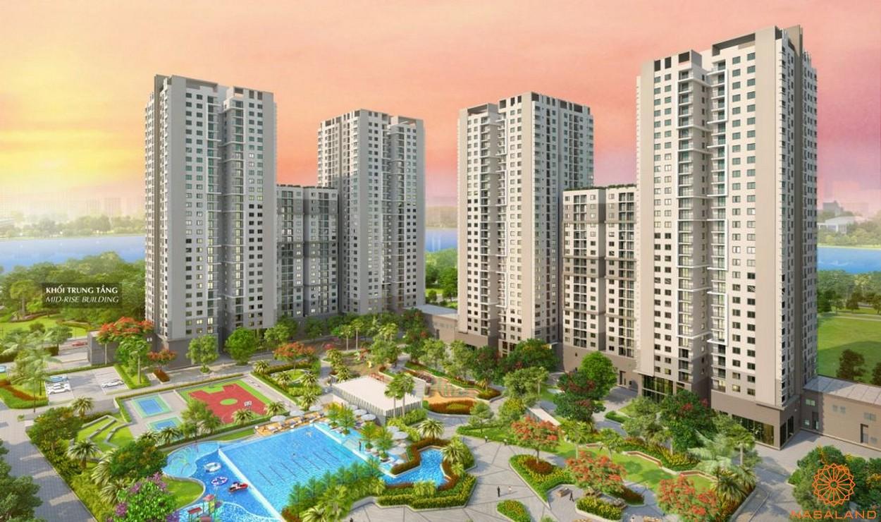 Phối cảnh dự án căn hộ chung cư Saigon South Residence Nhà Bè