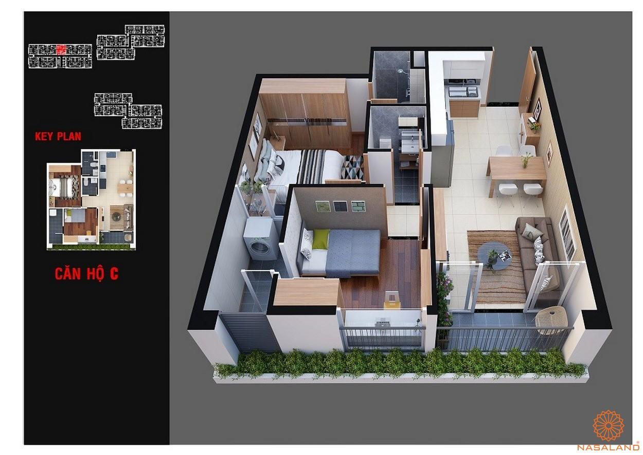 Thiết kế dự án chung cư Diamond Lotus Lake View Tân Phú mẫu C