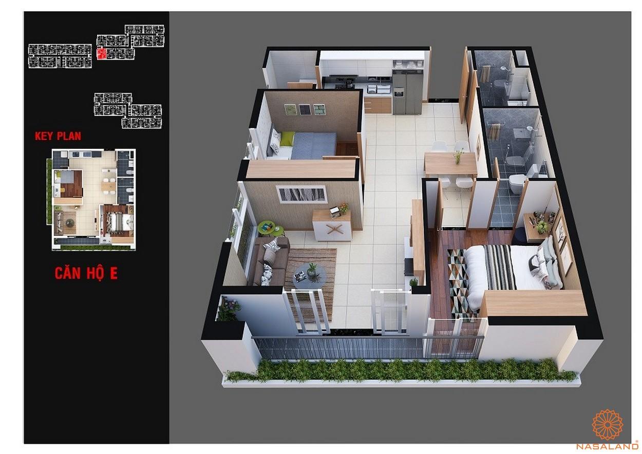 Thiết kế dự án chung cư Diamond Lotus Lake View Tân Phú mẫu E