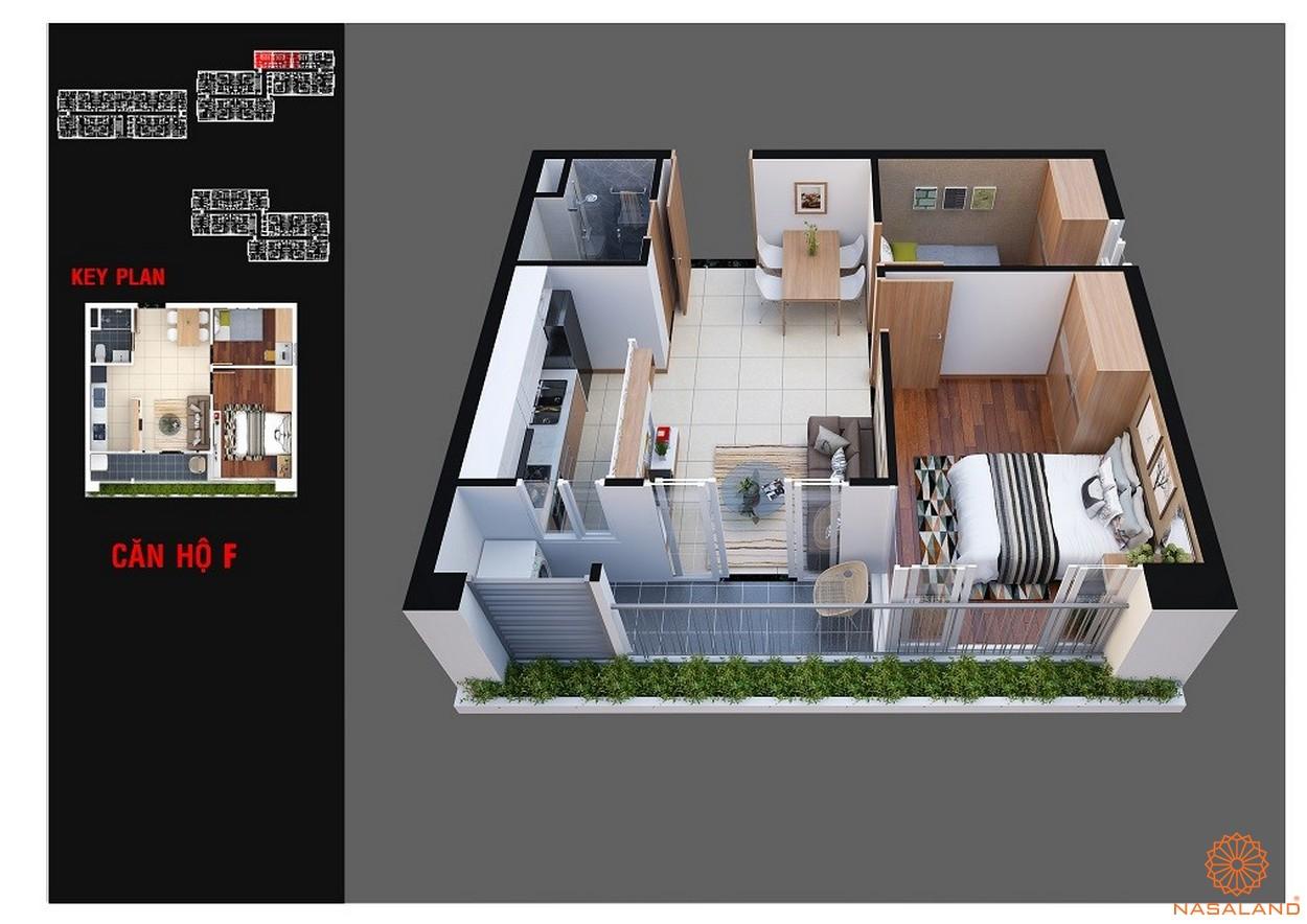 Thiết kế dự án chung cư Diamond Lotus Lake View Tân Phú mẫu F
