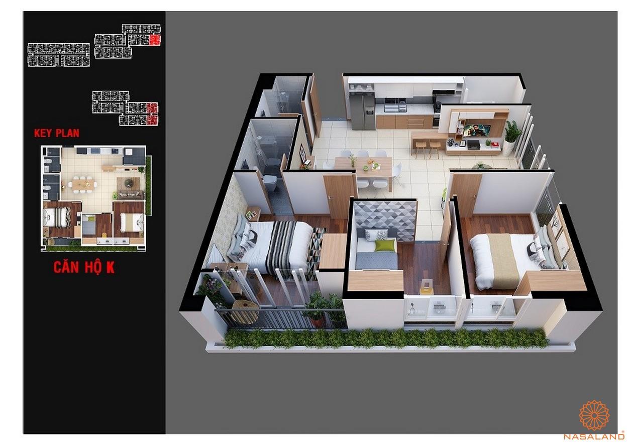 Thiết kế dự án chung cư Diamond Lotus Lake View Tân Phú mẫu K