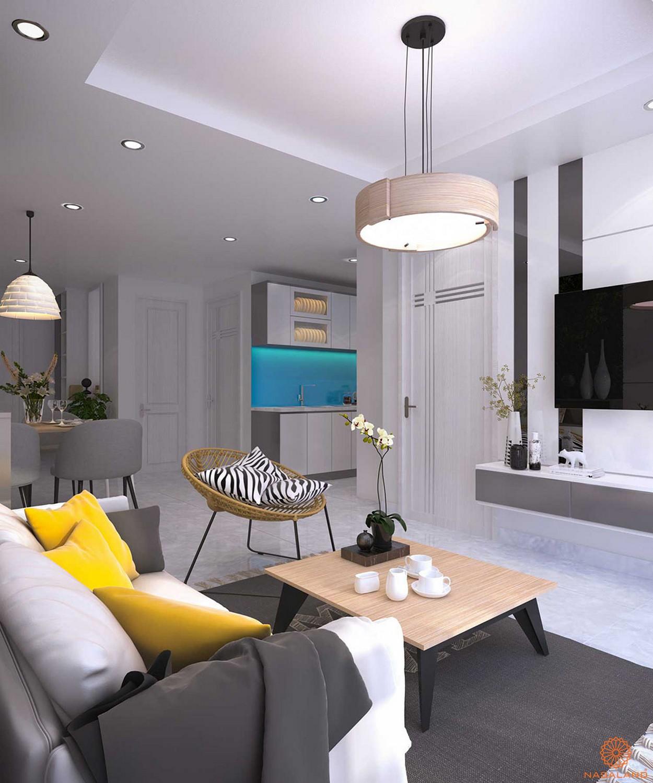 Thiết kế phòng khách dự án căn hộ Orchid Park