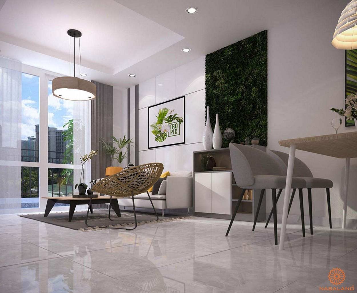 Thiết kế phòng khách dự án căn hộ Orchid Park Nhà Bè