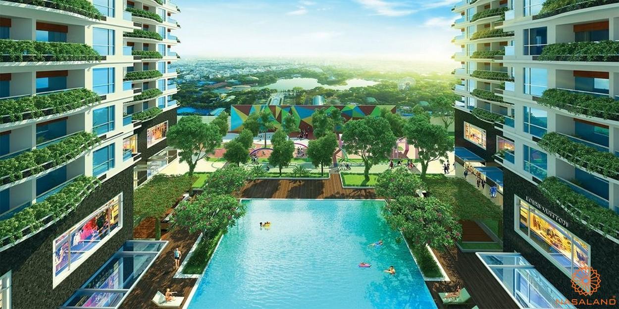 Tiện ích dự án chung cư Diamond Lotus Lake View Tân Phú - Hồ bơi