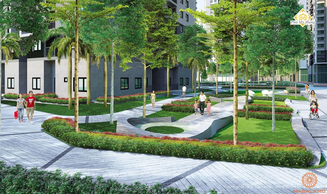Tiện ích dự án căn hộ chung cư Saigon South Residence Nhà Bè - Côn viên nội khu