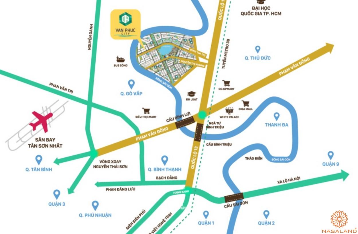 Vị trí dự án khu đô thị Vạn Phúc City Thủ Đức