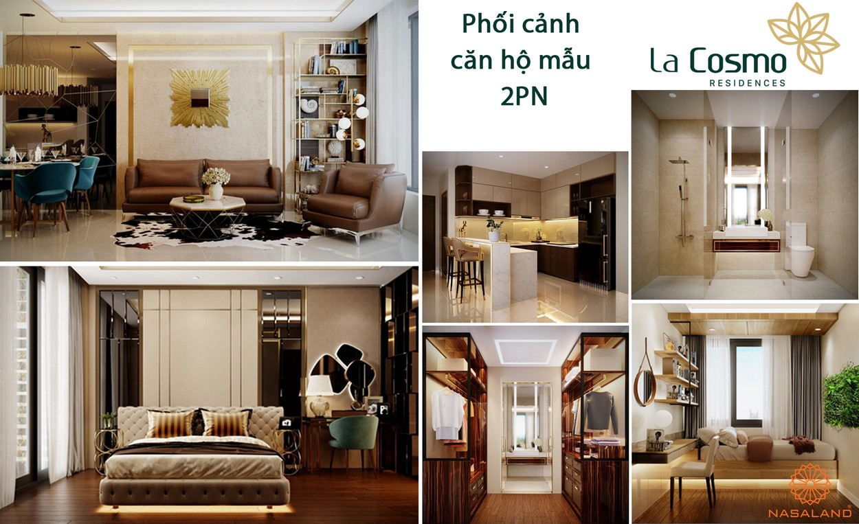 Thiết kế căn hộ 2PN dư án La Cosmo Residences