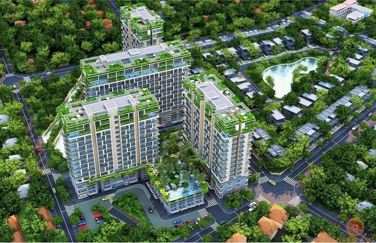 Phối cảnh tổng thể dự án nhà phố Thăng Long Home Thủ Đức