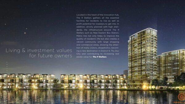 Phối cảnh dự án căn hộ The 9 Stellars quận 9 tổng thể