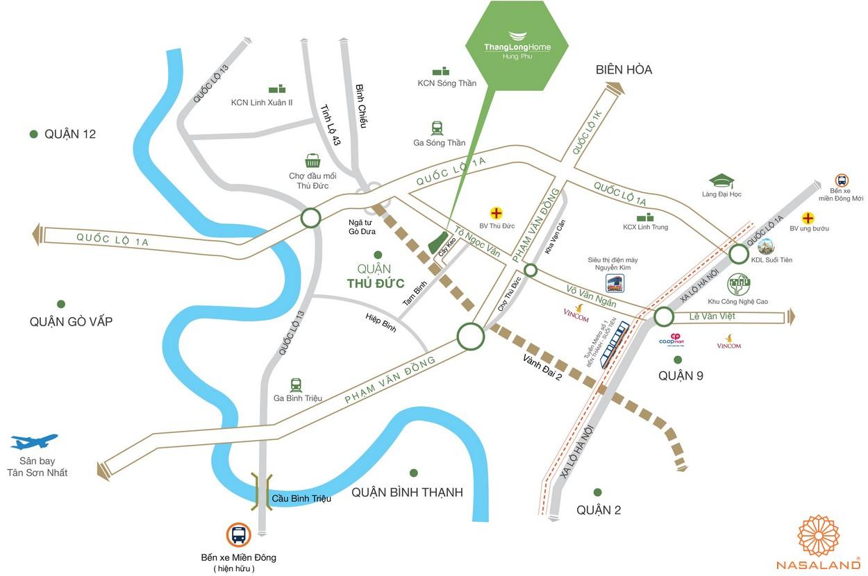 Vị trí nhà phố Thăng Long Home