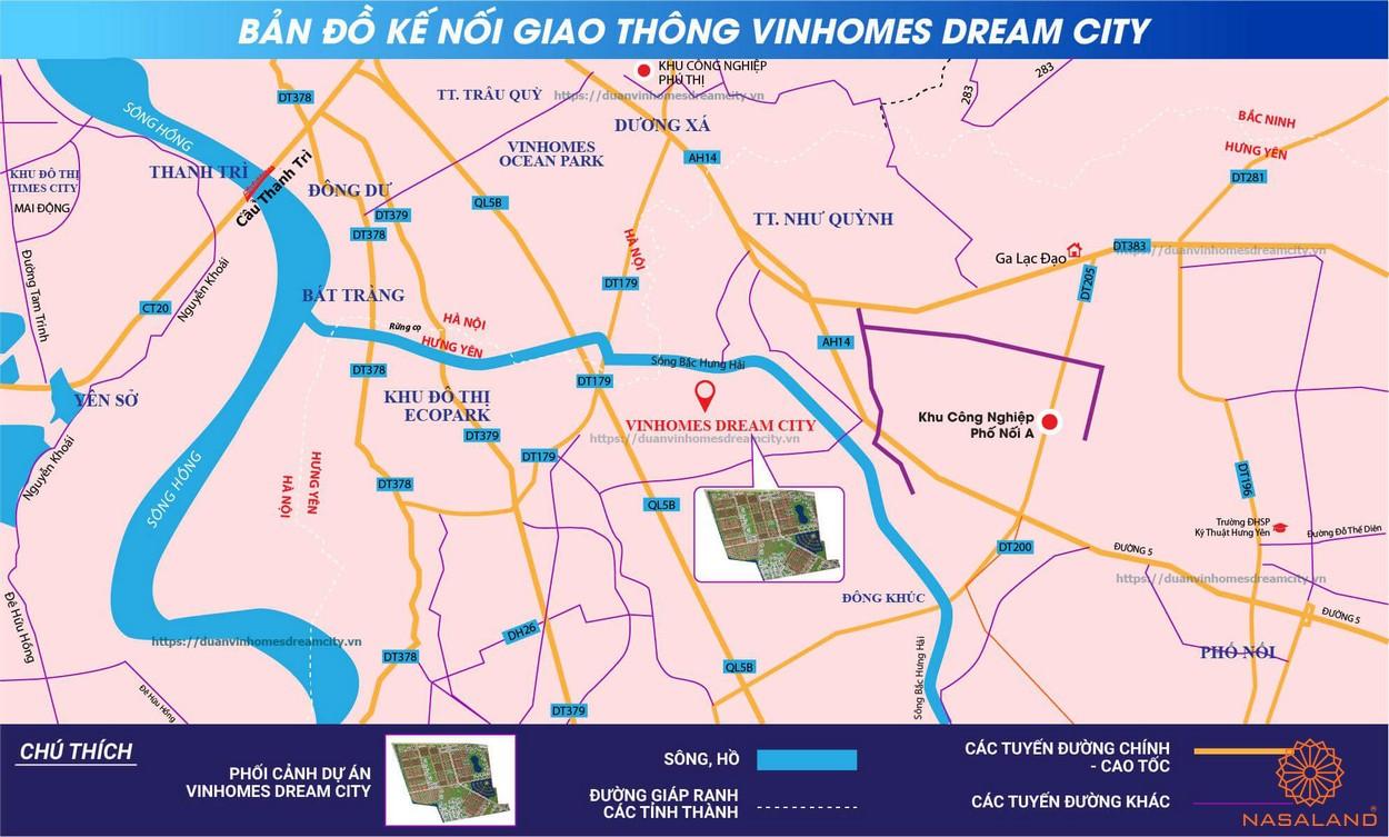 Vị trí Vinhomes Dream CIty