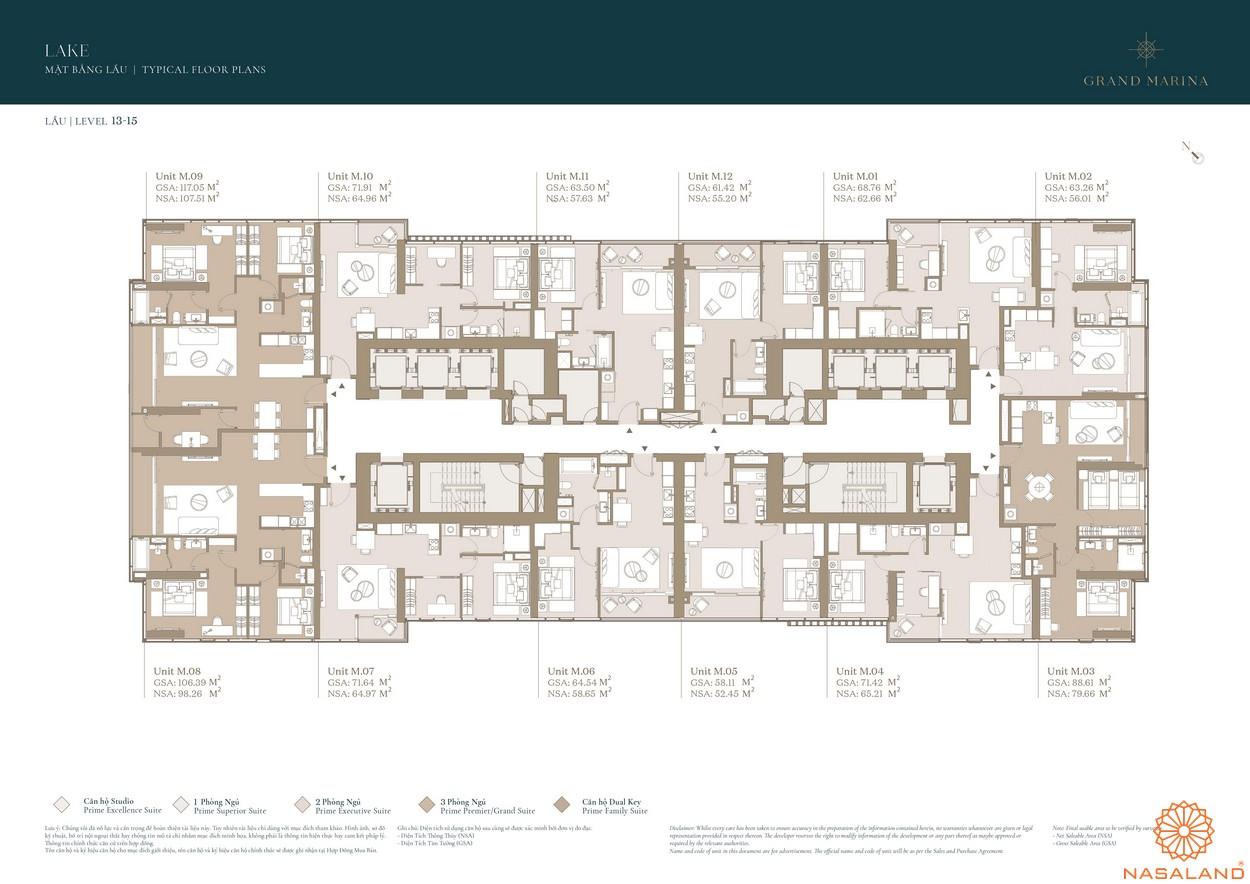 Mặt bằng dự án căn hộ Grand Marina Saigon quận 1 2