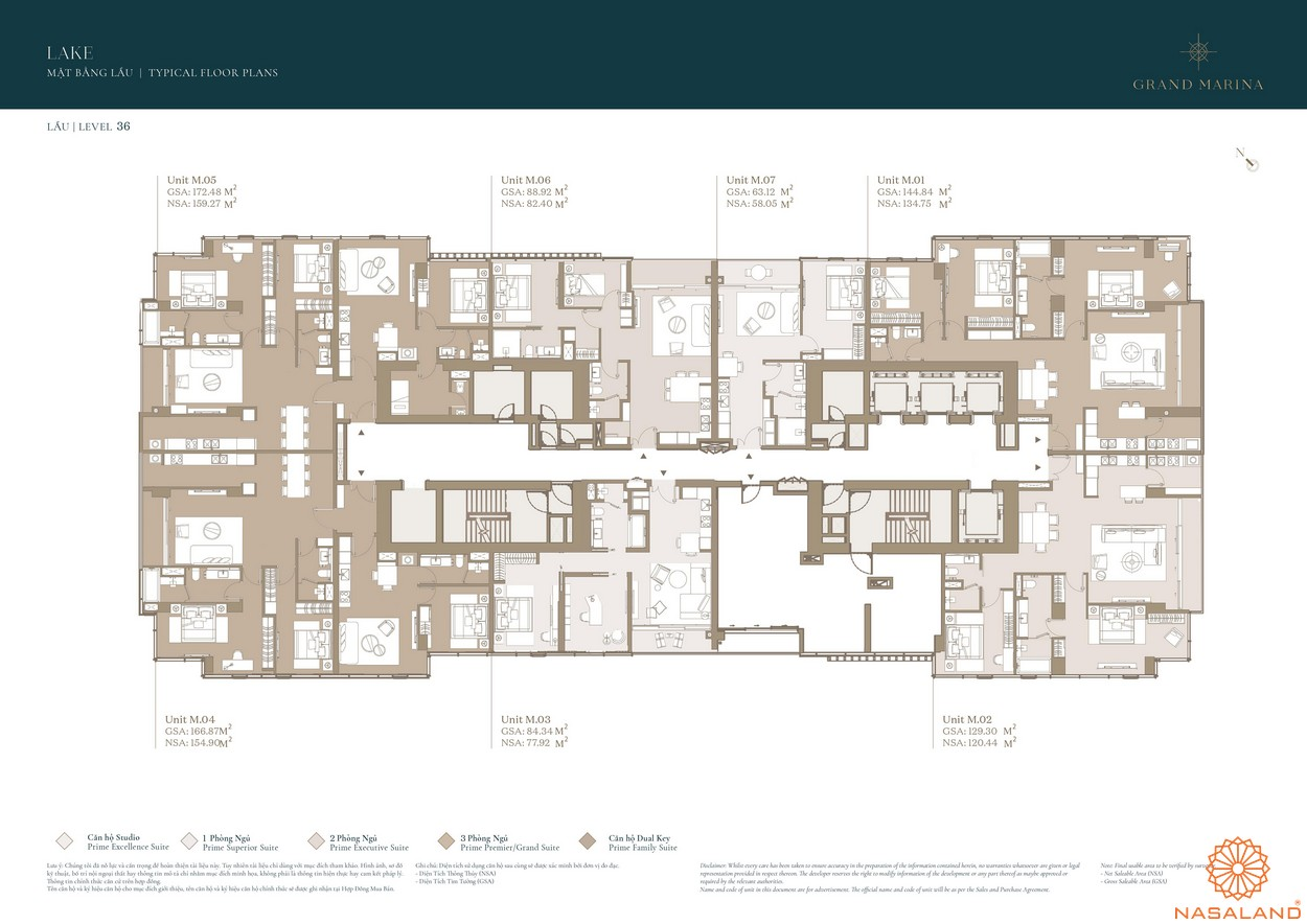 Mặt bằng dự án căn hộ Grand Marina Saigon quận 1 8