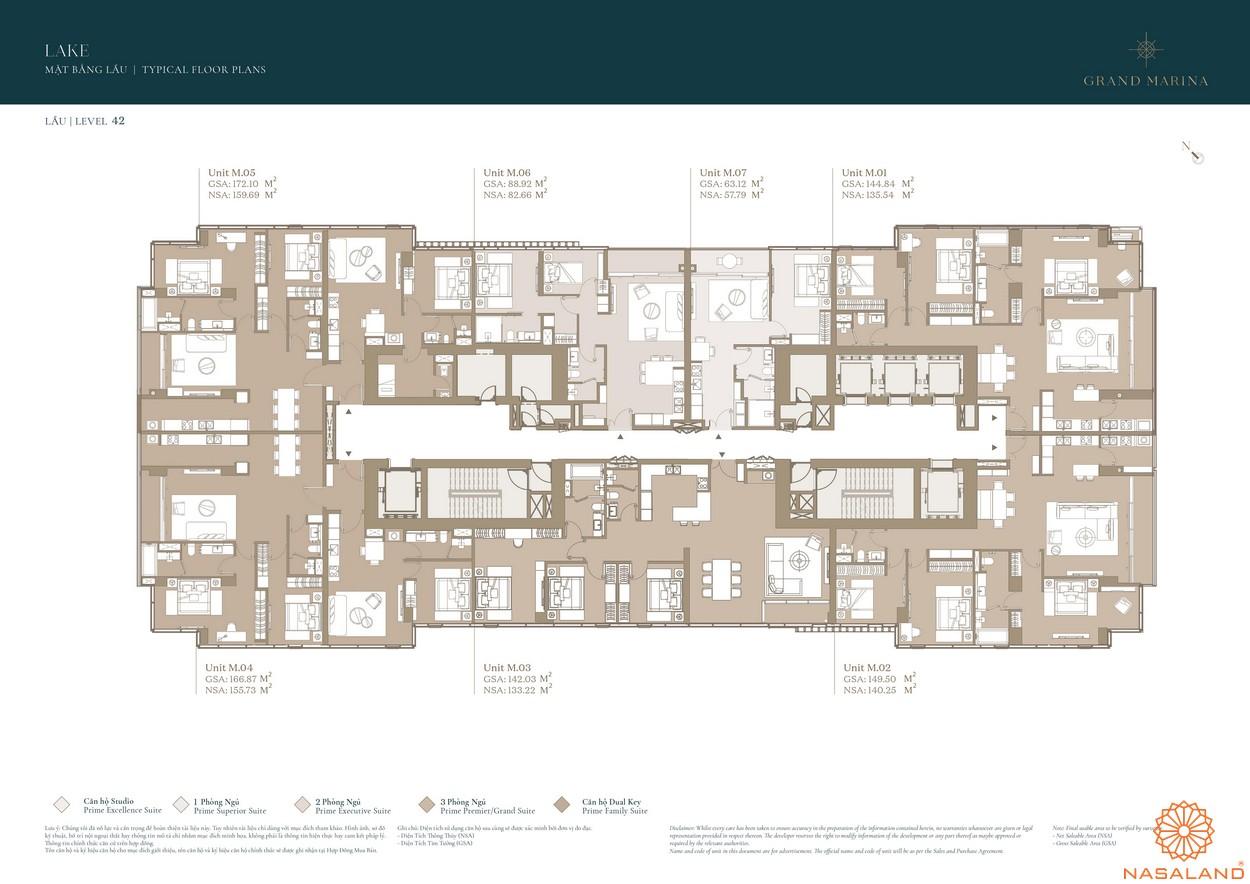 Mặt bằng dự án căn hộ Grand Marina Saigon quận 1 9