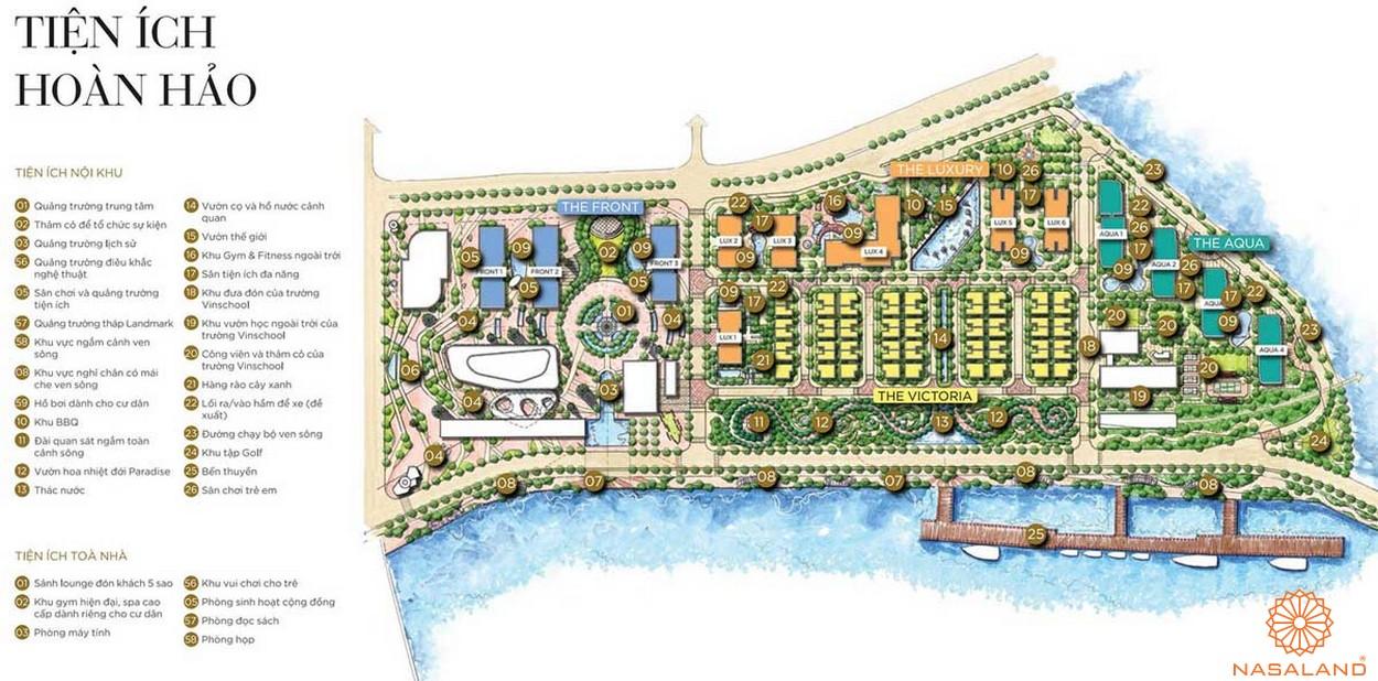 Mặt bằng dự án căn hộ Grand Marina Saigon quận 1 - tiện ích