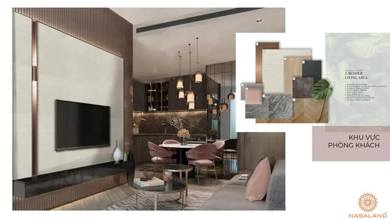 Nội thất dự án căn hộ Grand Marina Saigon quận 1 - phòng khách