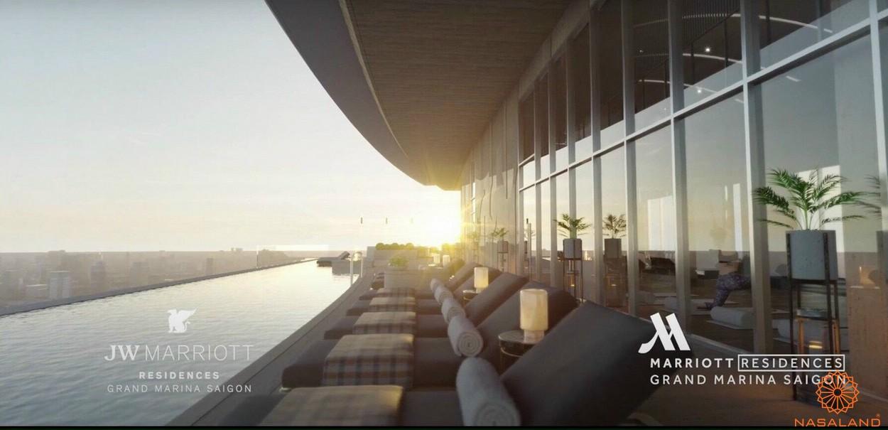 Tiện ích dự án căn hộ Grand Marina Saigon quận 1 - hồ bơi Gym