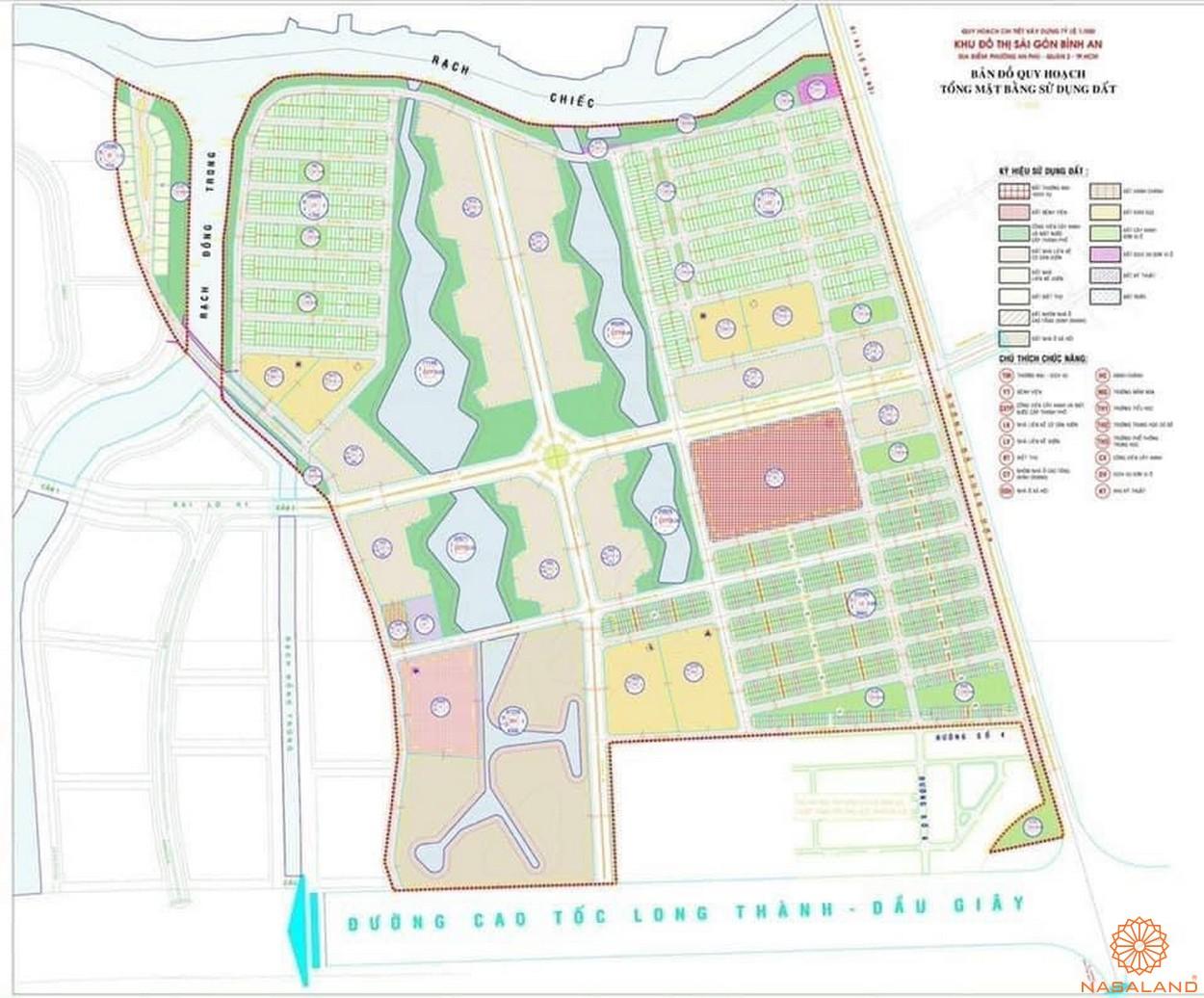 Lễ khởi công dự án Khu đô thị Sài Gòn Bình An quận 2 - Mặt bằng tổng thể