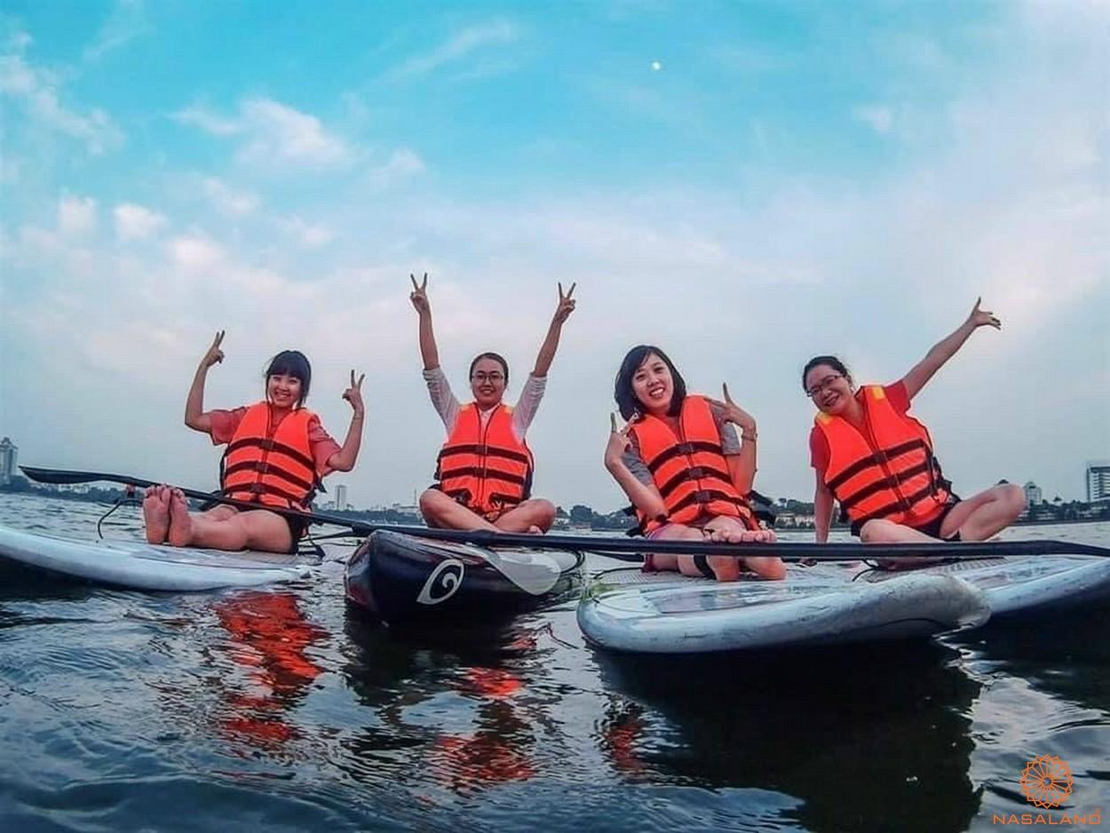 Tăng tiện ích Vinhomes quận 9 - chèo thuyền Kayak