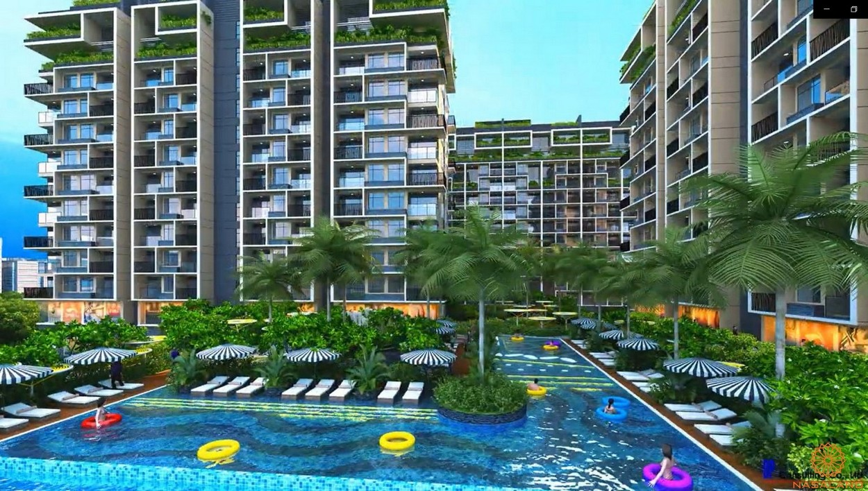 Tiện ích dự án căn hộ Dragon Sky View Thủ Đức - Hồ bơi tràn bờ tầng 4