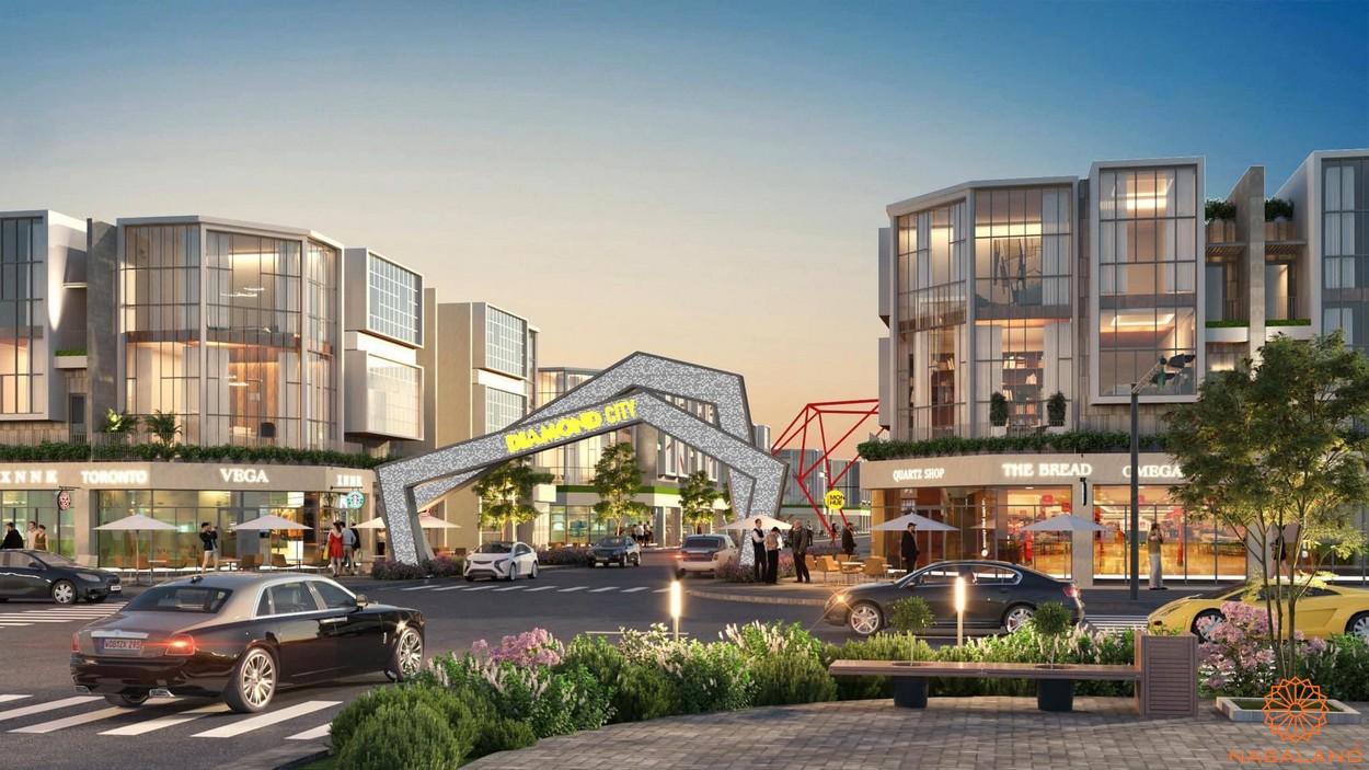 Tiện ích dự án đất nền Lộc Ninh Diamond City Bình Phước - Cổng chào
