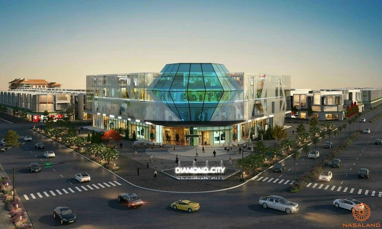 Tiện ích dự án đất nền Lộc Ninh Diamond City Bình Phước - Trung tâm thương mại