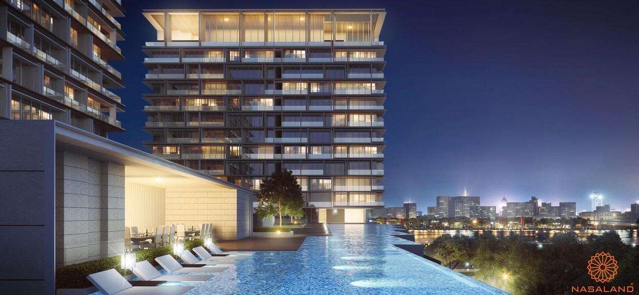 Tiện ích căn hộ One Central Saigon quận 1 - Hồ bơi tràn bờ