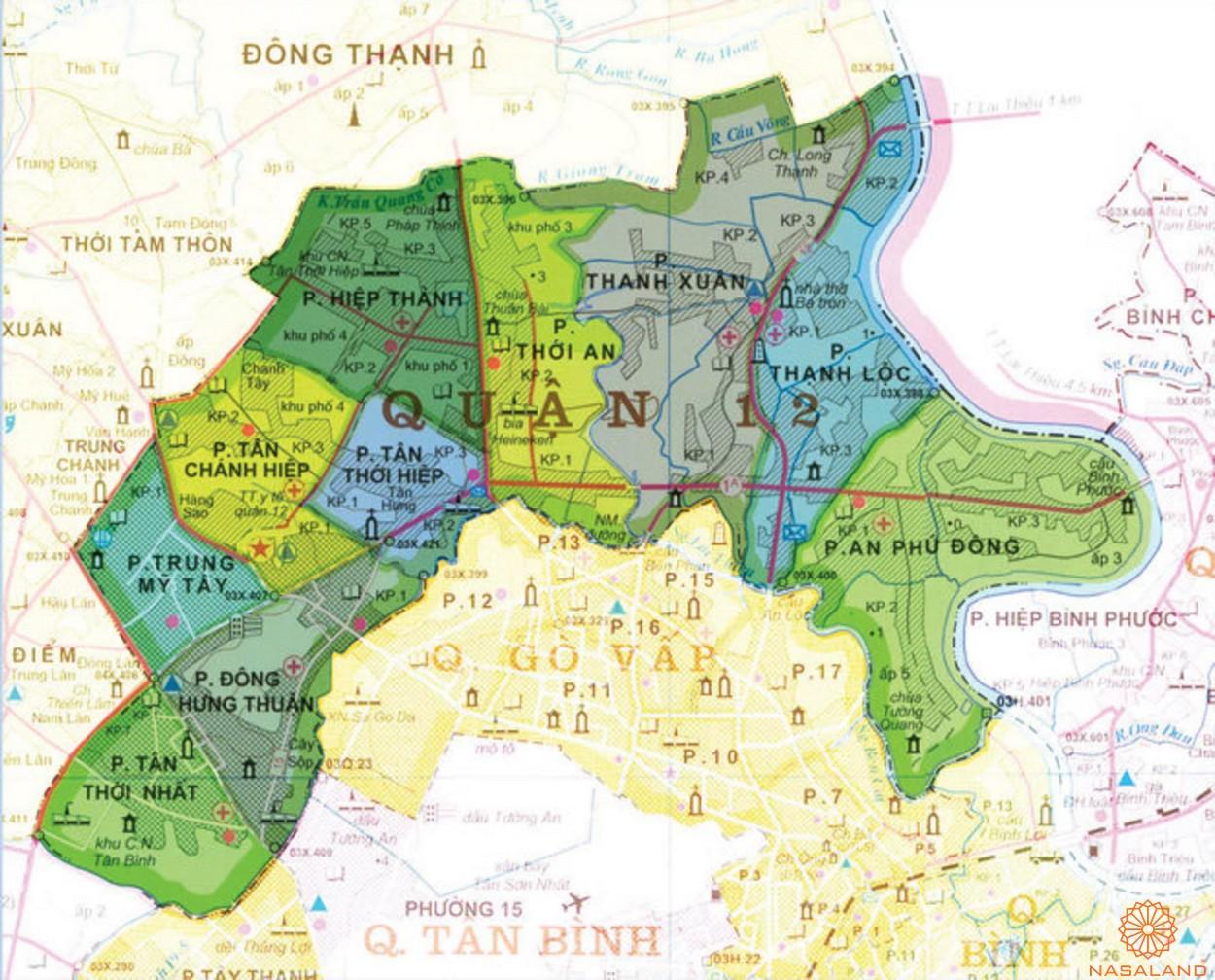 Căn hộ quận 12 - Viên ngọc tiềm năng trong thị trường đầu tư bất động sản - vị trí khu vực
