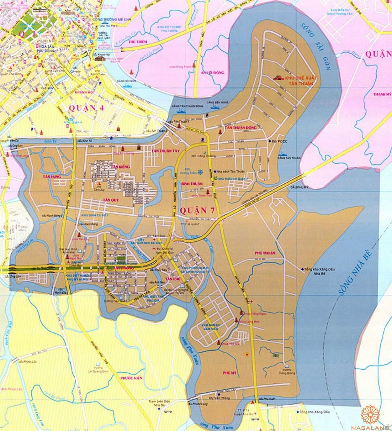 Căn hộ quận 7 - Vùng đất vàng nâng tầm tiềm năng tăng giá - vị trí