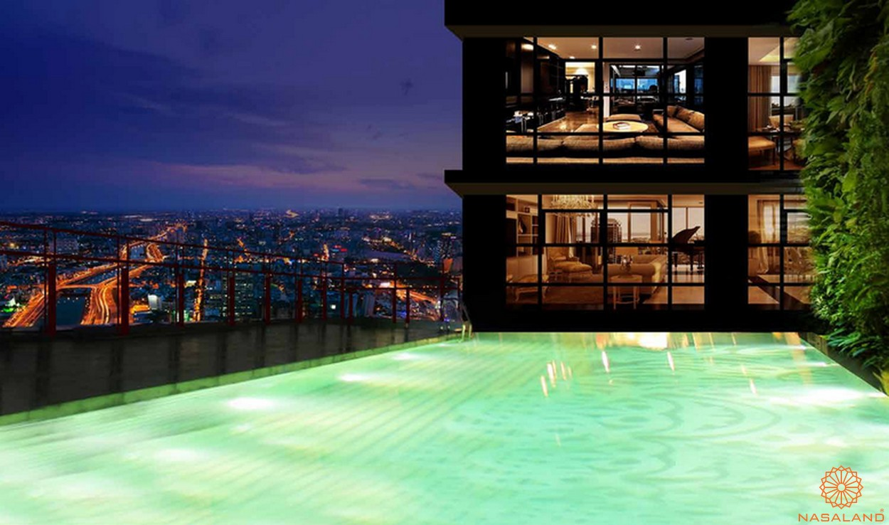 Chủ đầu tư Bến Thành Land - Tiện ích hồ bơi tràn bờ dự án The One Saigon