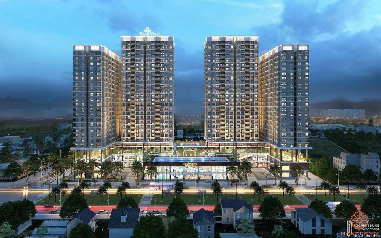 Phối cảnh tổng thể dự án căn hộ chủ đầu tư Đông Mê Kông