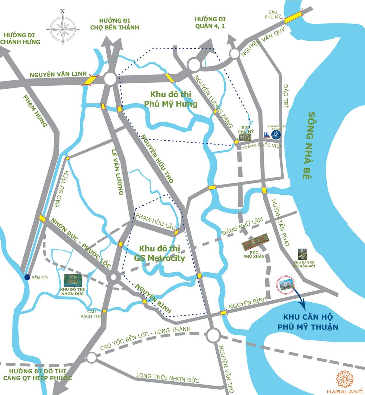 Chủ đầu tư Phú Mỹ Thuận - Vị trí dự án căn hộ Phú Mỹ Thuận