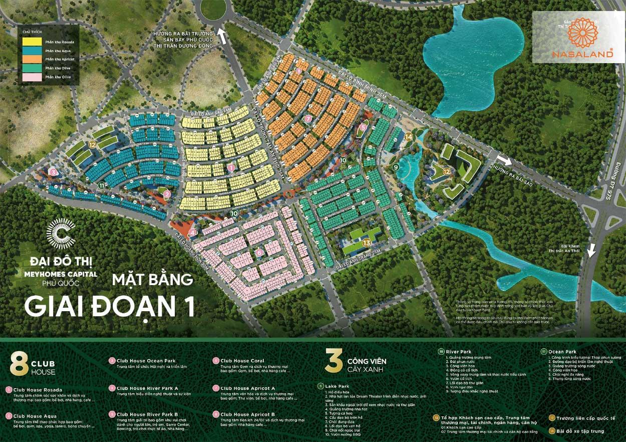 Mặt bằng tổng quan Meyhomes Capital Phú Quốc