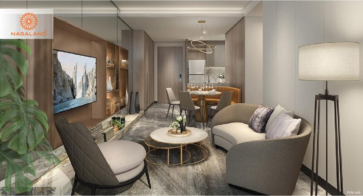 thiết kế nội thất phòng khách masteri west heights